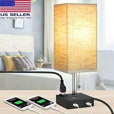 MOICO Bedside Modern Table Nightstand Lamp w/ 2 USB...
