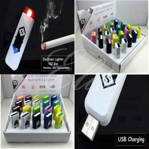 New Slim Usb Lighter Rechargeable Cigar Cigarette Flame less Electronic Lighter