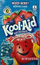 24 Mixed Berry Kool-Aid Drink Mix Gluten Free Unsweetened Exp 2020 BB