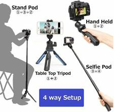 New Slik Multi-Pod 3x4 Compact Table Tripod / Selfie Stick & Case *UK STOCK*