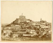 France, Le Puy-en-Velay, vue générale de la ville  Vintage albumen print Tirag