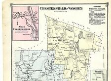 1873 Map of Chesterfield & Goshen, Massachusetts from Atlas of Hampshire County