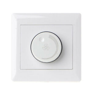 Adjustment Ceiling Fan Speed Control Switch 10A 220V Wall Button Dimmer Fen