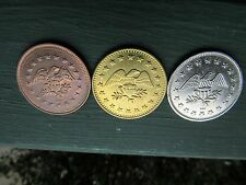 SOUVENIR TOKENS  3X EAGLE LOGO -NO CASH VALUE- Mixed Color ~COINS~ BIN!