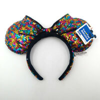 Disney Parks Bow Sequins Multicolor Minnie Mouse Ears Mickey Party Cos Headband