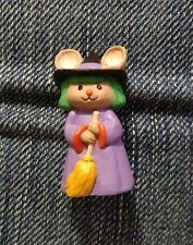 Hallmark Merry Miniature Halloween Witch Mouse 1993