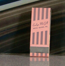 Rare Vintage Matchbook S8 Pennsylvania Bryn Mawr Evelyn McGill Stripes Dresses