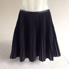 OHNE TITEL black SUNRAY PLEAT pleated MINI SKIRT size 8 US / 12 Aus