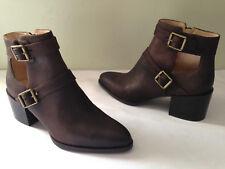 NEW! Nine West EVALEE Dark Brown Distressed Booties Ankle Boots 8.5 M $138