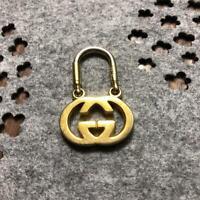 Gucci Authentic Karabiner Double G Interlocking Gold Key Ring Holder Bag Charm