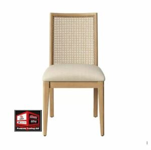 New, Opalhouse Corella Cane and Wood Dining Chair