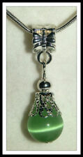 Silver Plated Green European Jewellery Charms