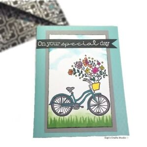 1pc BIKE W/FLOWERS CARD~ On your special day! 🚲