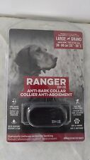 Zeus Ranger Pet Progressive Sound Shock Anti-Bark Collar New Large Dog +25 lbs.