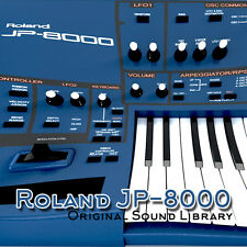 for Roland JP-8000 - unique original WAV/Kontakt Multi-Layer Samples Library DVD