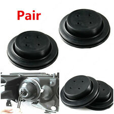 Aftermarket 2Pcs Black Rubber Housing Seal Cap Dust Cover for Car LED Headlight