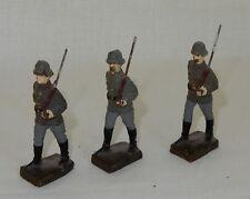 3 Lineolfiguren Lineol Wehrmacht Soldaten Landser Militär Wk II 1940