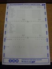25/07/1981 Cricket Scorecard: Nottinghamshire v Lancashire  [At Trent Bridge] .