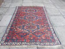 Antique Traditional Hand Made Caucasian Oriental Red Wool Sumac Kilim 194x140cm