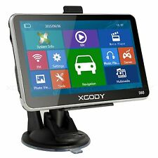 "XGODY 5"" Car GPS Navigation Touch Screen 8GB SAT NAV with SpeedCam POI Free Maps"