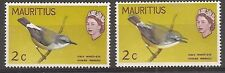 Mauritius 1968 Birds 2c new colours, double grey