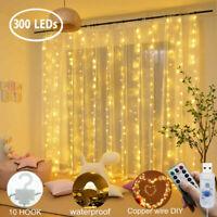 USB 300Led String Fairy Lights Indoor/Outdoor Garden Curtain Party Wedding Xmas