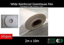 White Reinforced Greenhouse Film 2M x 10M & Frameguard Tape