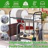 Over Sink Dish Drying Rack Holder Kitchen Drainer Holder Shelf Stainless Steel