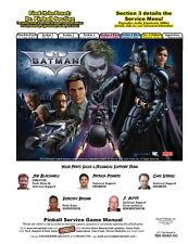 Paper Copy: Batman The Dark Knight Pinball Complete Service Repair Manual