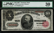 "1891 $10 Treasury Note FR-369 - ""Sheridan"" - PMG 30 - Very Fine"