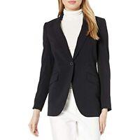 Anne Klein Women's Long Sleeve One Button Jacket (Black, Size 6)