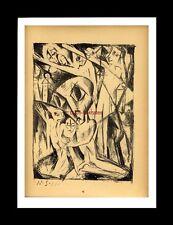Graphik Lithographie Steindruck Martel Schwichtenberg: Nachtphantasie - 1919
