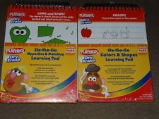 2 Different Playskool On-the-Go Dry Erase Learning Pads-Colors & Opposites-New