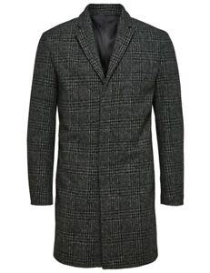 SELECTED HOMME cappotto uomo lungo grigio slim fit