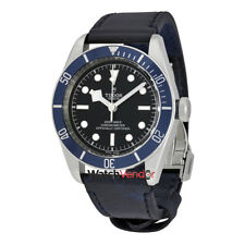 Tudor Heritage Black Dial Automatic Men's Leather Watch 79230B-0007