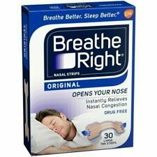 30pc Breathe Right Nasal Congestion Strips Tan Large Sleep Nose Block Relief