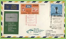 Brazil / Paraguay 1971 Lufthansa flight cover to Frankfurt, Germany