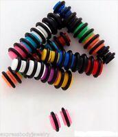 1 PAIR Acrylic Black  2g Look Magnetic No Piercing Fake Cheater Ear Plug