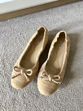 Geox Respira Tan Suede Ballerinas Flat shoes Karima UK 7.5 EU 41 RRP £90