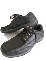 Mens SKECHERS smart Shoes size 7 Laces black RELAXED FIT Memory Foam FREE POST