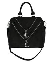 Restyle Gothic Double Zipper Moon Crescent Bag