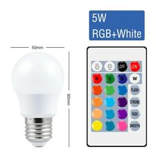 Smart Control Lamp Led RGB Light Dimmable 5w Colorful Changing Bulb Home Decor