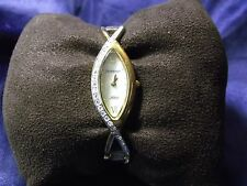 Woman's Amitron Watch with Mother of Pearl Face & Crystals **Lovely** B88-1178