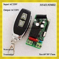 Input AC220V Output AC220V RF Wireless Remote Switch 315/433 Lighting Remote Swi