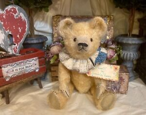 "17"" OOAK TEDDY BEAR 'EMMETT' NEW 1914 SERIES BY DEB BEARDSLEY/BEARDSLEY BEARS"