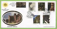 G.B. 1995 National Trusts set on Benham First Day Cover, Chartwell Kent