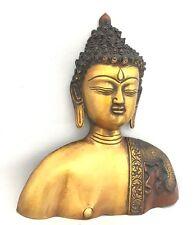 Bouddha Visage Buste Grand Budha laiton 8'' Wall hangingmeditation sculpté à la
