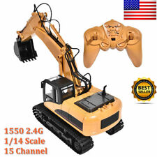 Remote Control Excavator Construction Vehicle Truck Digger RC Car Toy 15 Channel