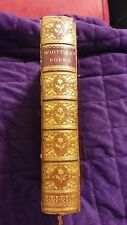 Poems of John Greenleaf Whittier 1879 Leather and Boards Beautiful Binding