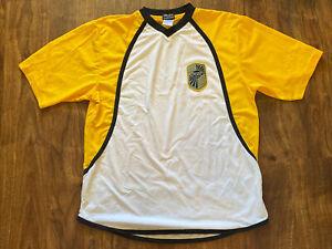 FOX Racing Inc. Brand Authentic White / Yellow Short Sleeve Jersey SZ Large